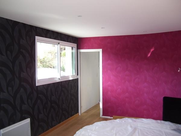 decoration peinture interieur beautiful ide dco peinture intrieur maison u les murs bicolores. Black Bedroom Furniture Sets. Home Design Ideas